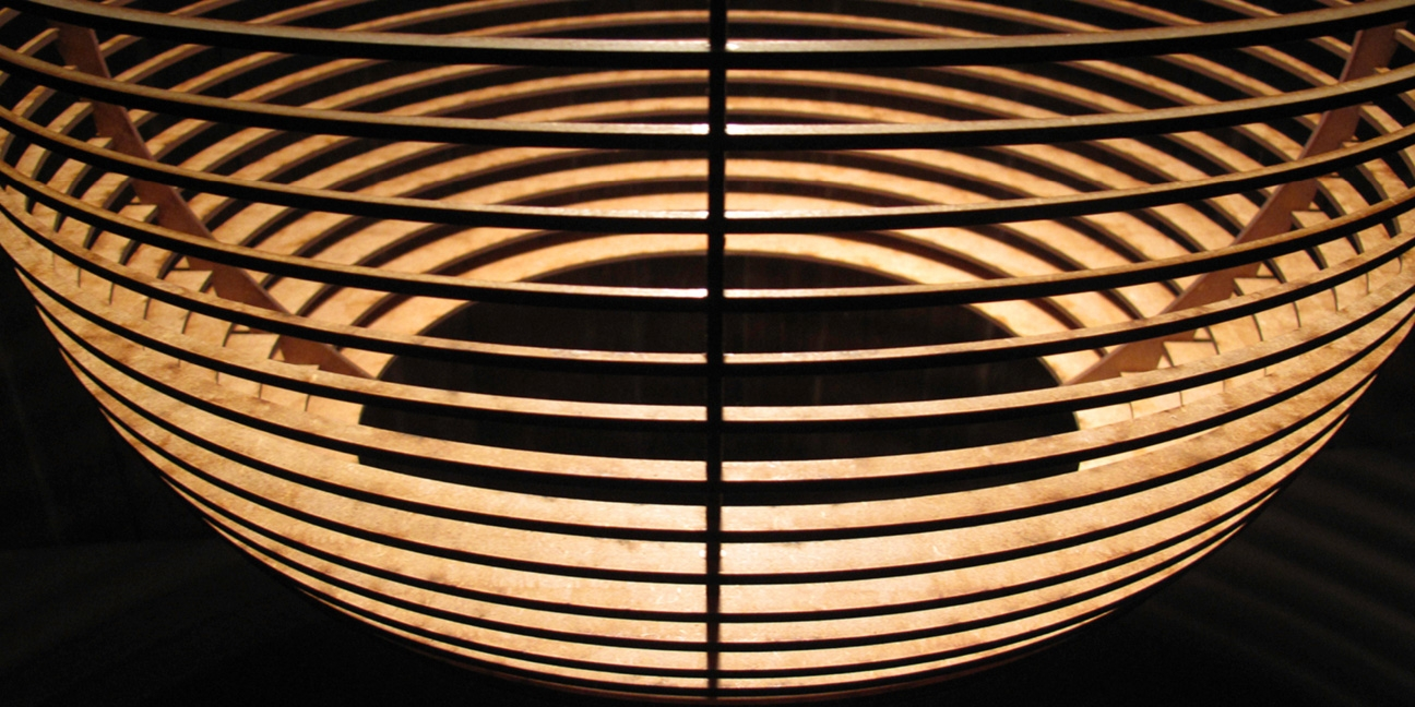 Lockwood Eclipse Europa pendant lamp wood